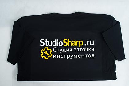 Футболки с логотипом недорого в Москве СтудиоШарп