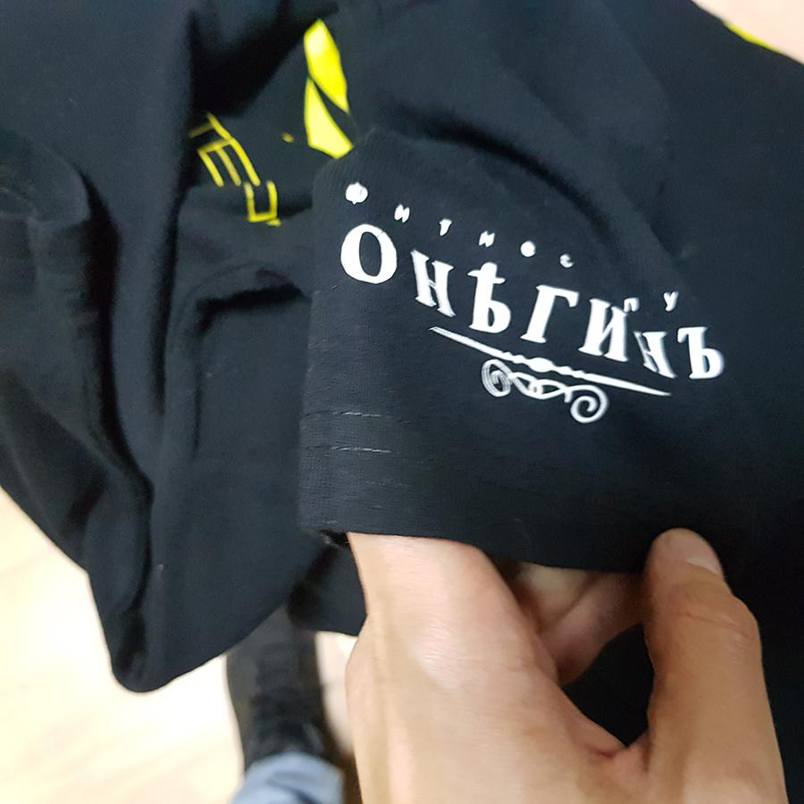 футболки с логотипом за 790 рублей недорого Studio-Sharp.ru
