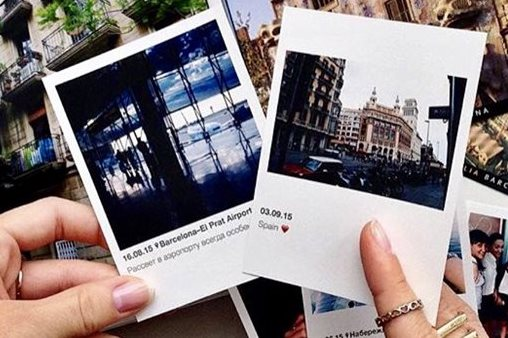 Печать фото из Инстаграм в Москве