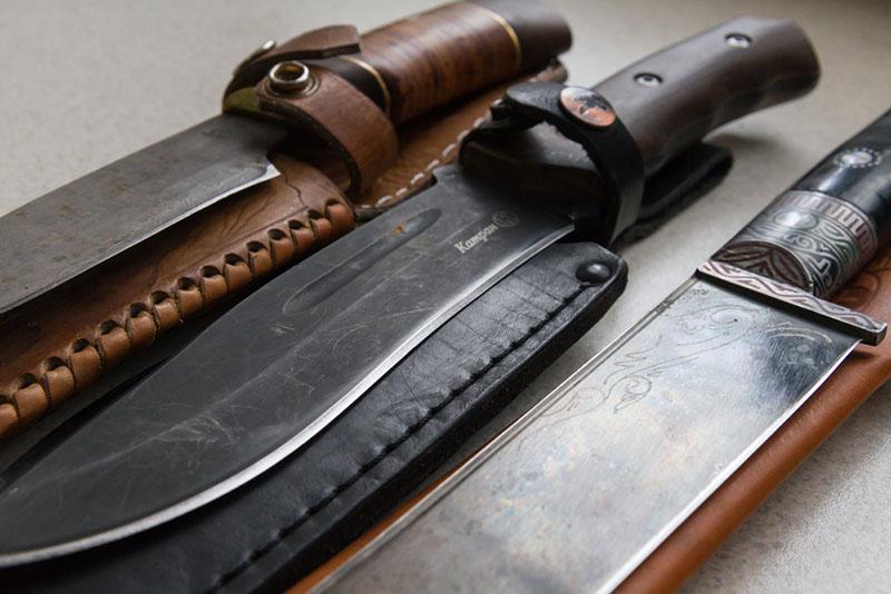 заточить охотничьи ножи