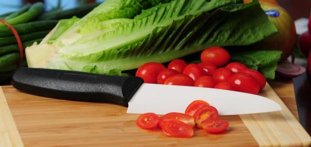 проверка остроты керамического ножа